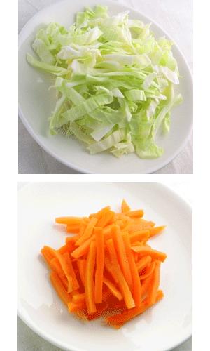 冷野菜と温野菜